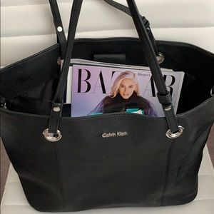Calvin Klein black large handbag